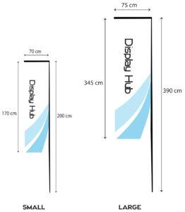 retangular flag -size B